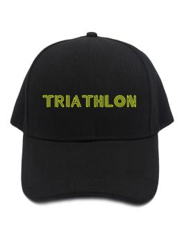 Line Word Triathlon Baseball Cap