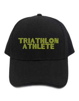 Line Word Triathlon Athlete Baseball Cap
