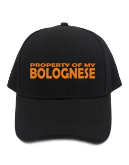 Property Of My Bolognese Embroidery Baseball Cap