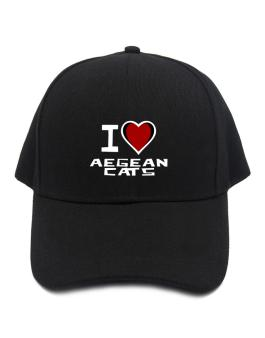 I Love Aegean Cats Baseball Cap