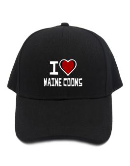 I Love Maine Coons Baseball Cap