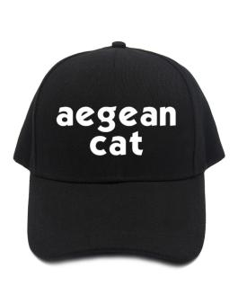 """ Aegean Cat word "" Baseball Cap"