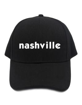 """ Nashville word "" Baseball Cap"