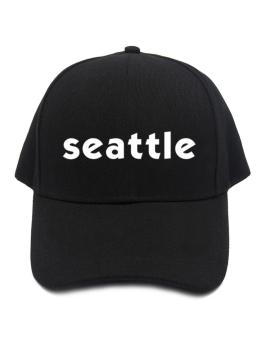 """ Seattle word "" Baseball Cap"