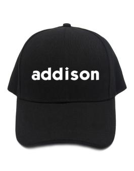 """ Addison word "" Baseball Cap"