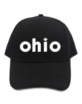 """ Ohio word "" Baseball Cap"