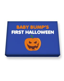Babys First Halloween Canvas square