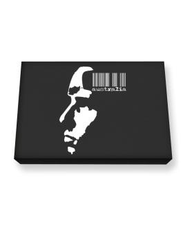 Australia - Barcode With Face Canvas square