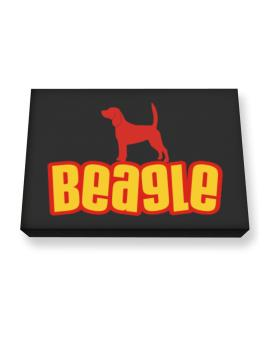 Breed Color Beagle Canvas square