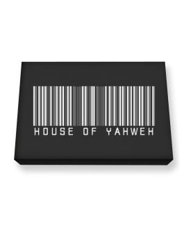 House Of Yahweh - Barcode Canvas square