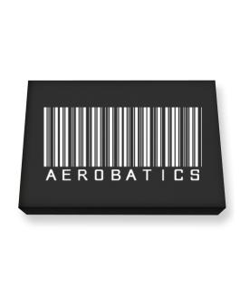 Aerobatics Barcode / Bar Code Canvas square