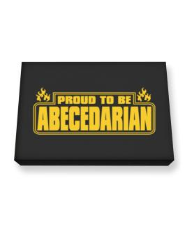 Proud To Be Abecedarian Canvas square