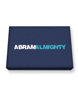 Abram Almighty Canvas square