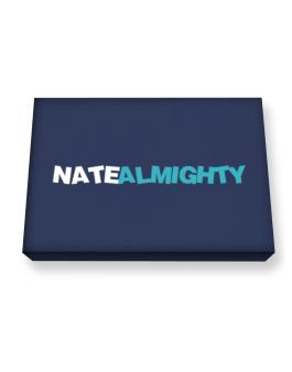 Nate Almighty Canvas square