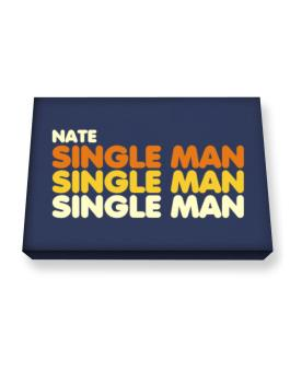Nate Single Man Canvas square