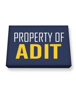 Property Of Adit Canvas square