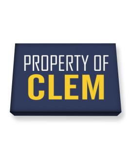 Property Of Clem Canvas square