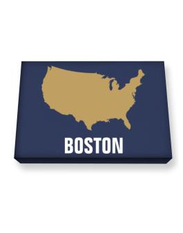 Boston - Usa Map Canvas square