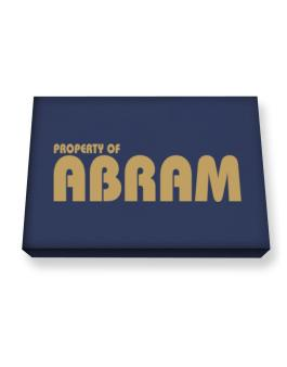 Property Of Abram Canvas square