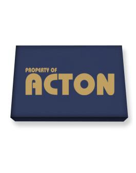 Property Of Acton Canvas square