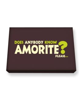 Does Anybody Know Amorite? Please... Canvas square