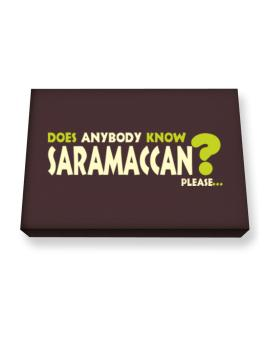 Does Anybody Know Saramaccan? Please... Canvas square
