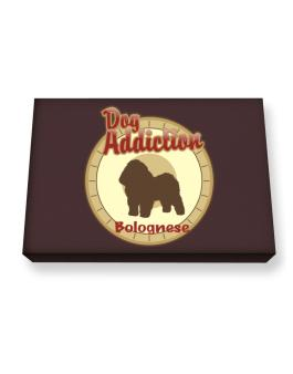 Dog Addiction : Bolognese Canvas square