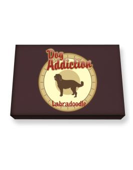 Dog Addiction : Labradoodle Canvas square