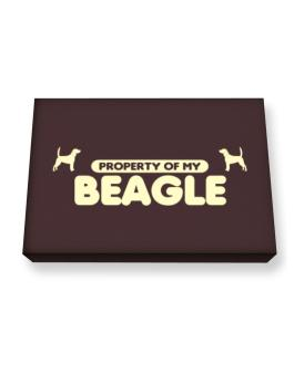 Property Of My Beagle Canvas square
