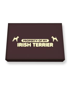 Property Of My Irish Terrier Canvas square