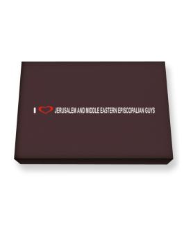 I Love Jerusalem And Middle Eastern Episcopalian Guys Canvas square