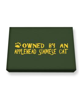 Owned By An Applehead Siamese Canvas square