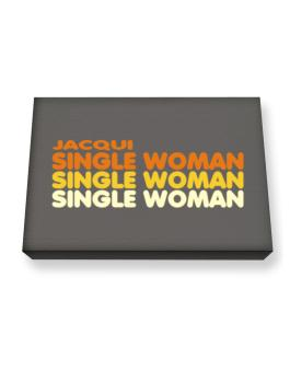 Jacqui Single Woman Canvas square