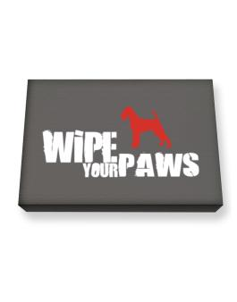 Wipe Your Paws - Irish Terrier Silhouette Canvas square