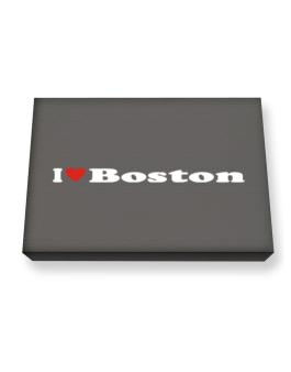 I Love Boston Canvas square