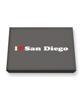 I Love San Diego Canvas square