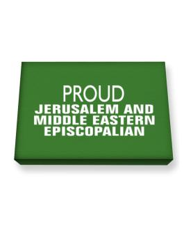 Proud Jerusalem And Middle Eastern Episcopalian Canvas square