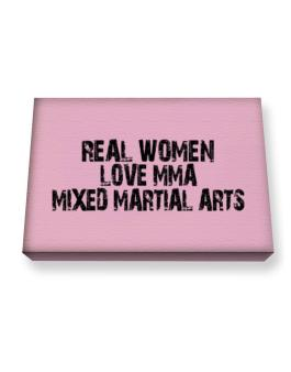 Real women love MMA Mixed Martial Arts Canvas square