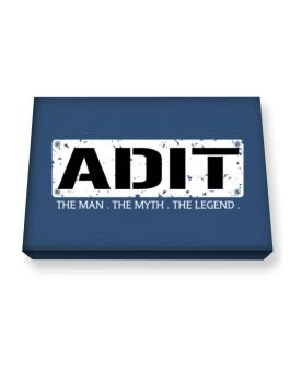 Adit : The Man - The Myth - The Legend Canvas square