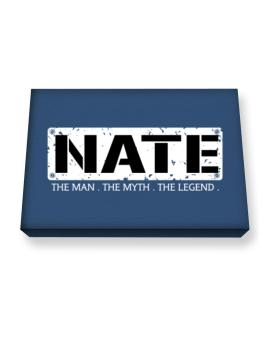 Nate : The Man - The Myth - The Legend Canvas square