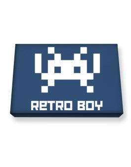 Retro Boy Canvas square