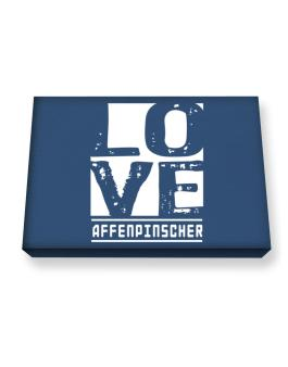Love Affenpinscher Canvas square