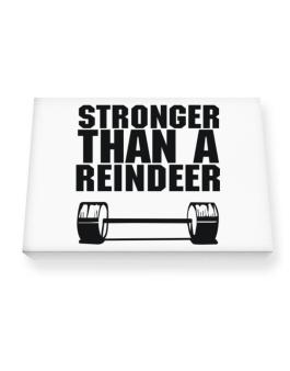 Stronger Than A Reindeer Canvas square