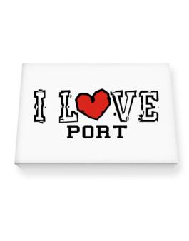 I Love Port Canvas square