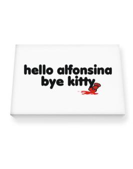 Hello Alfonsina Bye Kitty Canvas square