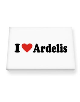 I Love Ardelis Canvas square