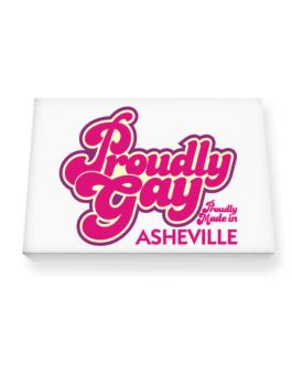 Proudly Gay, Proudly Made In Asheville Canvas square
