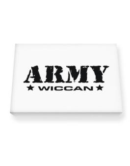 Army Wiccan Canvas square