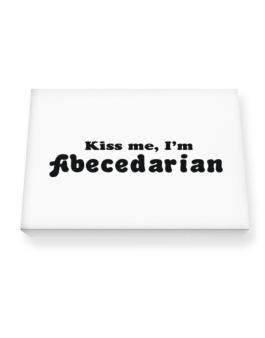 Kiss Me, Im Abecedarian Canvas square