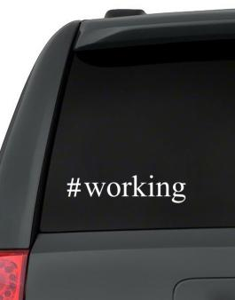 #Working - Hashtag Decal Pack